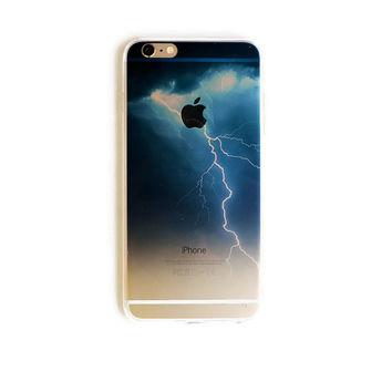 iPhone 6 Plus Lightning Bolt Wave iPhone 6 Plus Soft Case Storm Clouds iPhone 6 Plus Slim Design Case Lightning Strike Sky Nature 1799