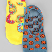 Donuts & Basketballs No Show Sock