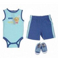 3pc King of the Waves Set 0 9m 376641639 | Clothing More | Cutie Pie Baby | Shop by Brand | Burlington Coat Factory