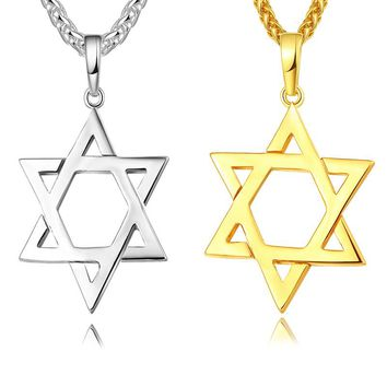 Jewish Jewelery Magen Star David Pendant Necklace