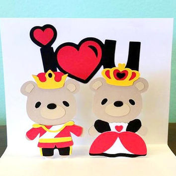 Pop Up Card - King and Queen Card - Royalty Card