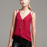 Banana Republic Womens Strappy Crepe Tank Size 16 - Crimson red