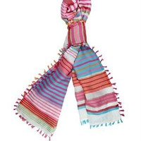 Tantra Striped & Fringed Scarf - Spanish Summer Accessories by Tantra - Modnique.com
