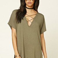 Strappy Plunging Tunic
