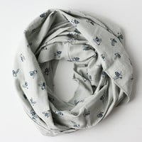 Loop Scarf - Blue Bees