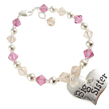 Pink and Silk Crystal Big Sister Bracelet