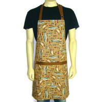 Trout Fishing Lures, Mens Adjustable Kitchen Apron with Pocket