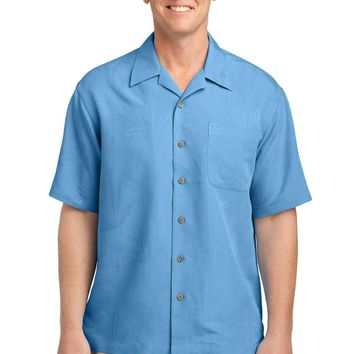 Port Authority Patterned Easy Care Camp Shirt. S536