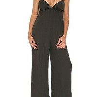Elizabeth and James Women`s Oasis Jumpsuit in Espresso