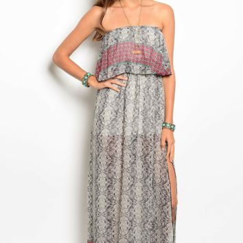 Western Flounce Maxi Dress