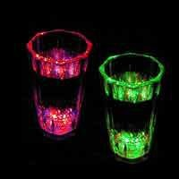 Flashing Sensor Shot Glass: Everything Glows!