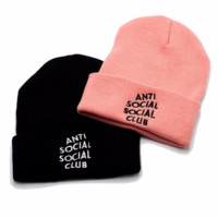 Anti Socilal Social Club Beanie Unisex Warm Winter High Quality Hat