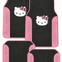 Hello Kitty Sanrio Pink Front & Rear Carpet Auto Car Truck SUV Mats