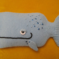 Crochet --- PATTERN --- Whale Hot Water Bottle Cover Cosy PDF