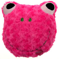 "Pink Frog Pillow Multi Color LED Light Up Flash Plush 9"" Microbeads Home Decor"