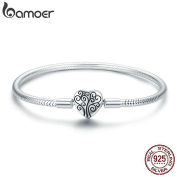BAMOER 100% 925 Sterling Silver Spring Tree of Life Bracelet