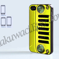 Jeep Wrangler yellow - iPhone 4 case - iPhone 4S case - Samsung Galaxy S3/S4 - iPhone case - Hard Plastic - Case Soft Rubber Case