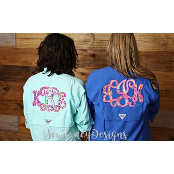 Lilly Pulitzer Monogrammed Fishing Shirt - Long Sleeved