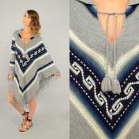 70's Mexican Knit Poncho