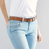 ASOS Vintage Tan Jeans Belt at asos.com