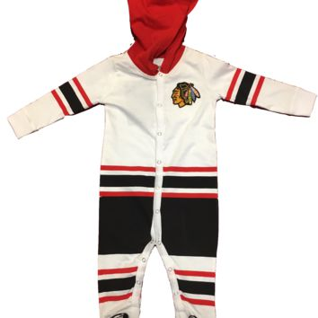 Chicago Blackhawks Infant Ice Time Onsie By Old Time Hockey