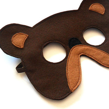 Bear Felt Children Mask Eco Friendly Kids Carnival by BHBKidstyle