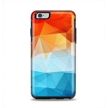The Vector Abstract Shaped Blue-Orange Overlay Apple iPhone 6 Plus Otterbox Symmetry Case Skin Set