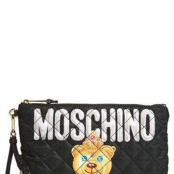 Moschino Teddy Quilted Clutch | Nordstrom