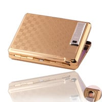 Latest Rechargeable USB Charging Arc Lighter with Cigarette Case Environmental Protection Smoke No Gas Cigarette Lighter