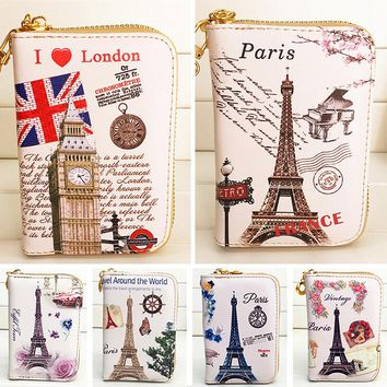 Fashion Women Wallet Short Zipper Lady Purses Cards Holder Brand Coin Purse