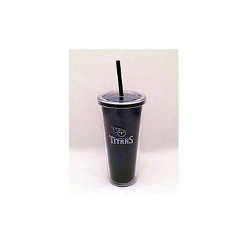 NFL Tennessee Titans 22 oz Color Double Wall Acrylic Travel Tumbler Cup