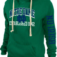University of Notre Dame Women's Hooded Sweatshirt | University Of Notre Dame
