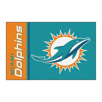 FANMATS Miami Dolphins Uniform Jersey Inspired Starter Rug