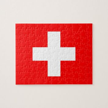 Puzzle with Flag of Switzerland