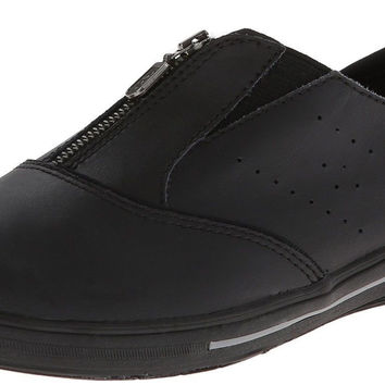 Keds Women's Pacey Zip-Up Leather Sneaker Black Leather 5 B(M) US