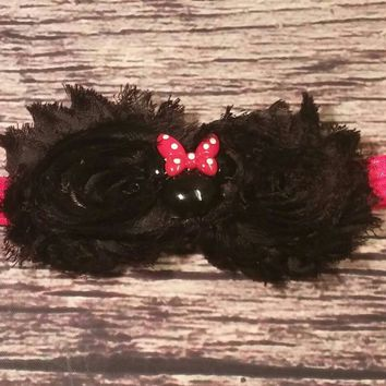 Red and Black Minnie Mouse Headband