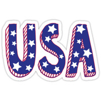 'USA' Sticker by feliciasdesigns