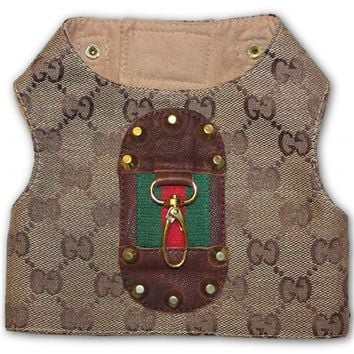 Gucci Inspired Designer Dog Harness Vest