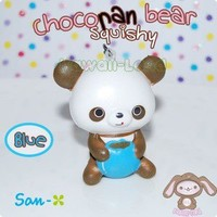 Chocopa Squishy Bear Cell Phone Charms