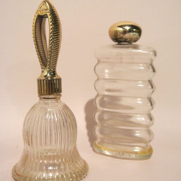 Pair of Vintage Avon Cologne Perfume Bottles Instant Collection