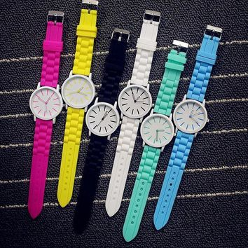 ESBONS All-match Cute Multicolor Unisex Watch Couple Jelly Watch