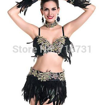 Sexy Leather Lingerie Latin Exotic Apparel Mini Bikini Awimwear Lingerie Set Sexy Bra Panty Pole Dance Clothing Maid Costume