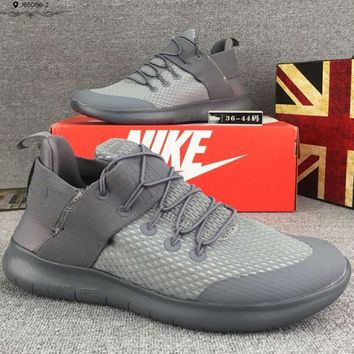 Nike Free Rn Cmtr Casual Women Men Running Sport Casual Shoes Sneakers Grey G-CSXY