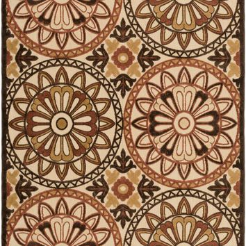 Surya Portera Medallions and Damask Red PRT-1066 Area Rug