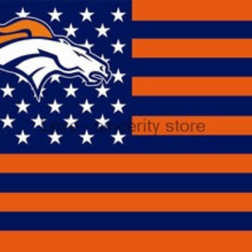 NFL Denver Broncos Flag 3' x 5' Stars & Stripes Banner