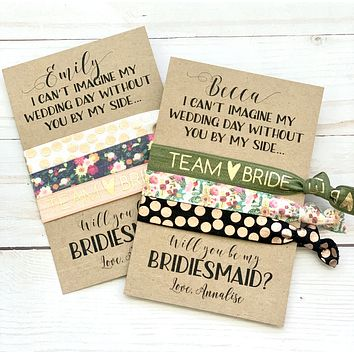 Bridesmaid Proposal Gift | Personalized Will you be my bridesmaid, Maid of Honor, flower girl