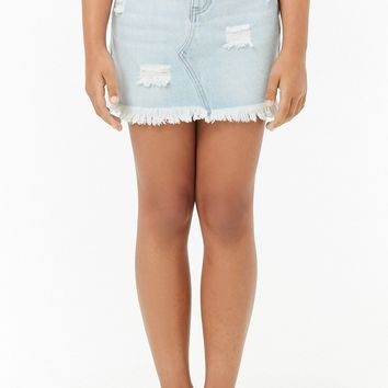Girls Distressed Denim Skirt (Kids)