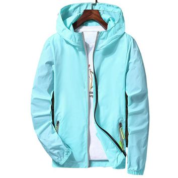 add new plus size Lovers Summer Large 7XL fashion Sun UV Protection men Hooded Jacket Thin Breathable Beach Cardigan women coats