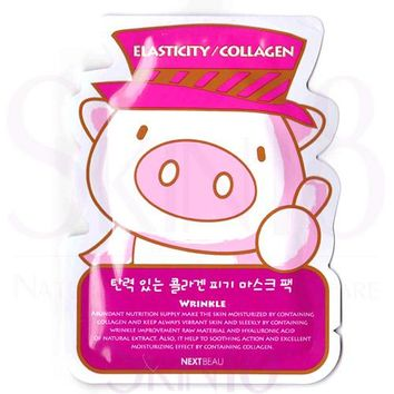 NEXTBEAU Elasticity / Collagen Wrinkle Care Piggy Mask