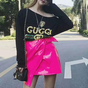 One-nice™ ''Gucci'' Women Long Sleeve Cute Sweater I-AGG-CZDL
